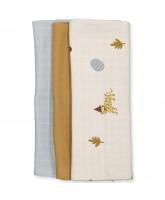 Organic 3 pack leo muslin cloth