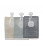3 pack reusable smoothie bags