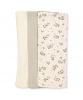 3 pack Clover muslin cloths