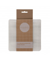 3 pack reusable snack bags - 400 ml.