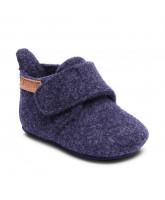 Blue wool slippers