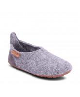 Grey wool slippers
