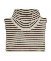Striped wool neck warmer
