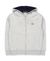 Grey zip-sweat