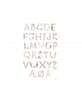 Poster - Danish Alphabet A3