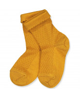 Golden spice wool socks