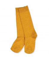 Golden spice wool knee socks