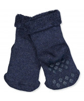 Dark denim socks