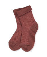 Dark brick wool socks