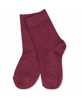 Bordeaux glitter socks