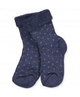 Dark denim wool socks
