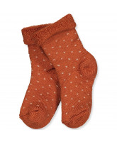 Bombay brown wool socks