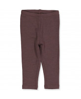 Plum merino wool leggings