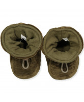 Military olive slippers