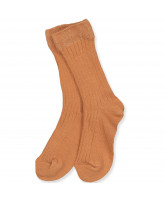 Amber brown rib socks