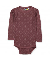 Organic bordeaux bodysuit