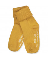 Honey mustard non-slip socks