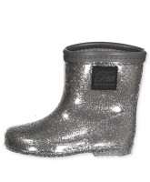 Silver rubber boots