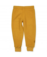 Golden brown wool fleece pants