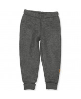 Anthracite melange wool fleece pants