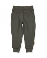 Black olive wool fleece pants
