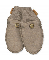 Melange denver wool fleece mittens