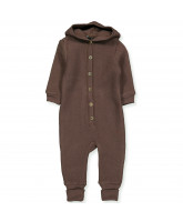 Puce brown wool fleece suit