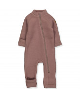 Marron wool fleece suit