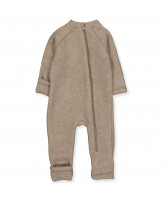 Melange denver wool fleece suit
