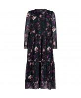 Floral maxi mesh dress