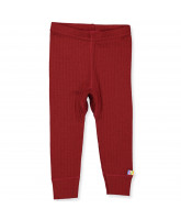 Red wool leggings