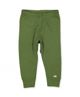 Green wool leggings