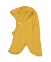 Yellow wool kids' balaclava