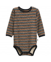 Organic striped bodysuit