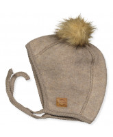 Melange denver wool fleece babyhat