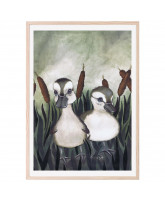 Duck friends poster 50x70 cm