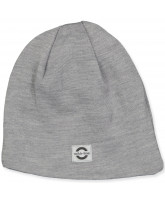 Light grey melange wool hat
