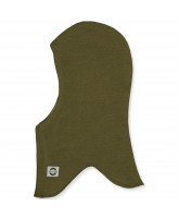 Military olive wool kids' balaclava