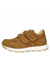 Camel/silver sneakers