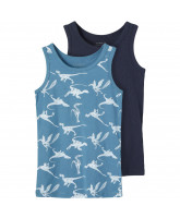 2 pack Real teal dino tops