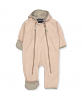 Mahogany rose fleece suit