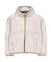 Rose powder fleece jacket